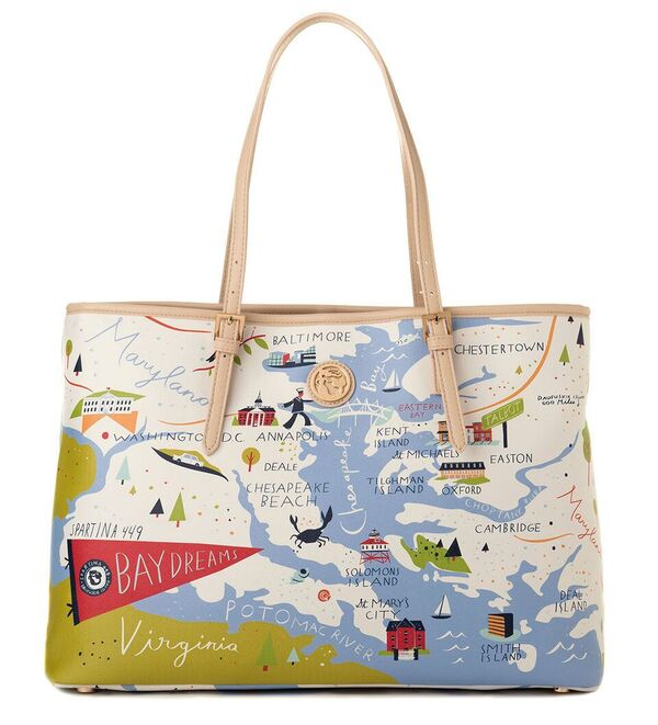 Greetings From Bay Dreams Large Map Tote